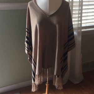 Forever 21 square cut fringed poncho.